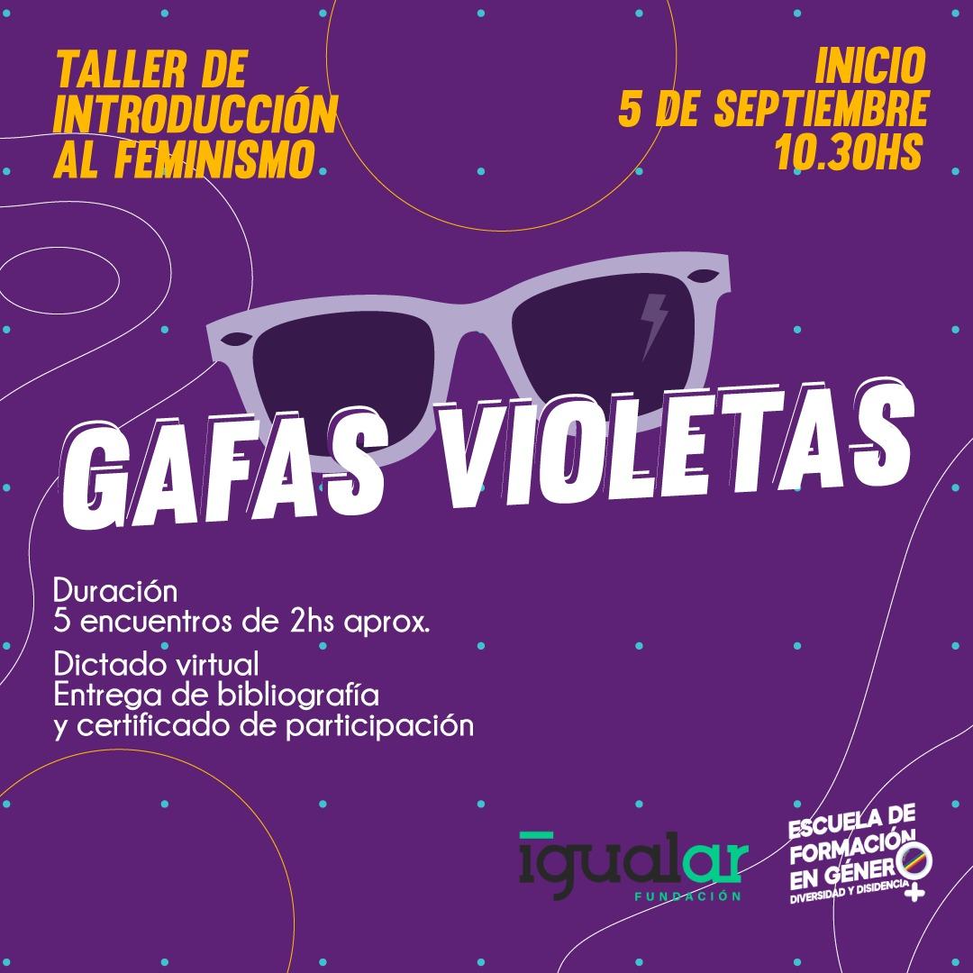 Un taller para mirar el mundo con gafas violetas