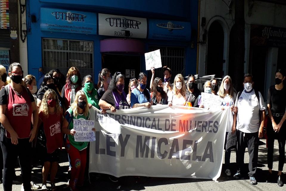 Sindicalistas unidas: Fuerte apoyo a la trabajadora de UTHGRA que denunció violencia machista